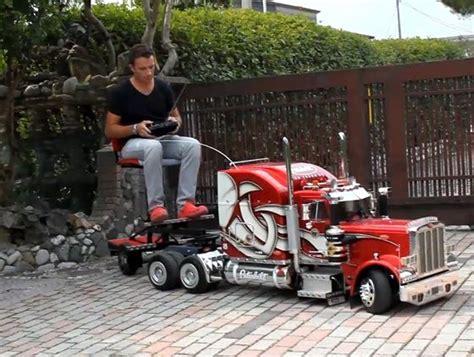 custom built  scale peterbilt  rc truck model unfinished man  trucks rc cars