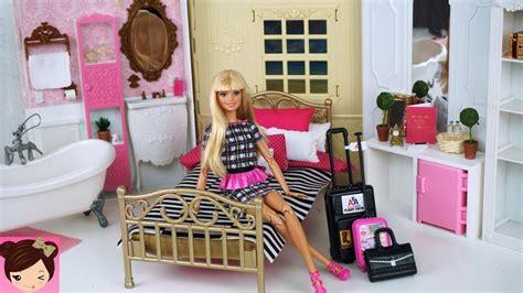 barbie doll bedroom barbie doll grand hotel bedroom pink bathroom playset doll