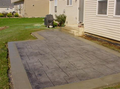 Backyard Concrete Patio Designs Sted Concrete Patio For Pleasure Amaza Design