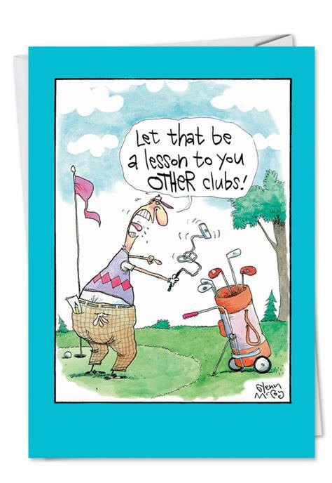 printable golf jokes angry golfer cartoons birthday father paper card glenn mccoy