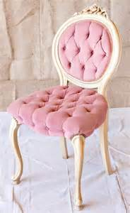 Tufted Vanity Stool Pretty Pink Chair