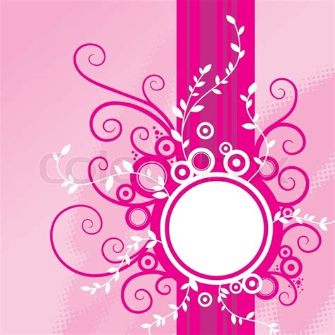 pink abstract wallpaper vector abstract pink floral background with frame stock vector
