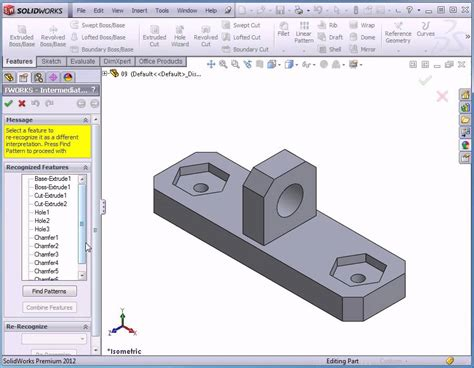 tutorial solidworks 2012 solidworks 2012 tutorials featureworks how to combine