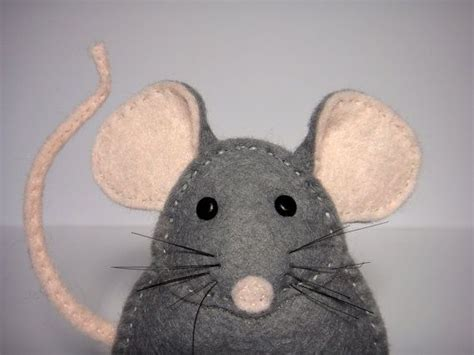 finger mouse template easy to sew felt pdf pattern diy pablo the mouse finger