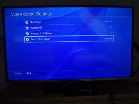 how to reset ps3 video output improve tv picture quality with ps4
