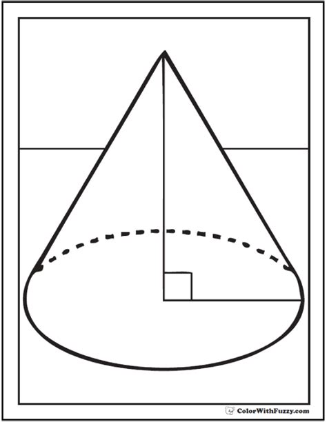 coloring page cone shape coloring pages customize and print