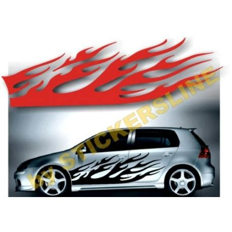 lada effetto fiamma adesivi auto decalcomanie car stickers fiamma classic