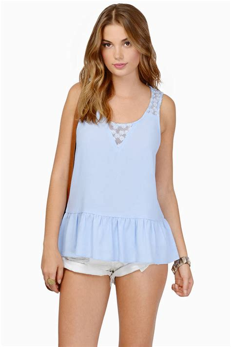Blue Top light blue crop top blue top cross back top blue
