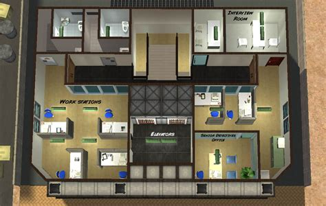 Game Room Floor Plans Mod The Sims Dilapidated Police Department