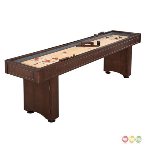 austin 9 ft shuffleboard table with leg storage in