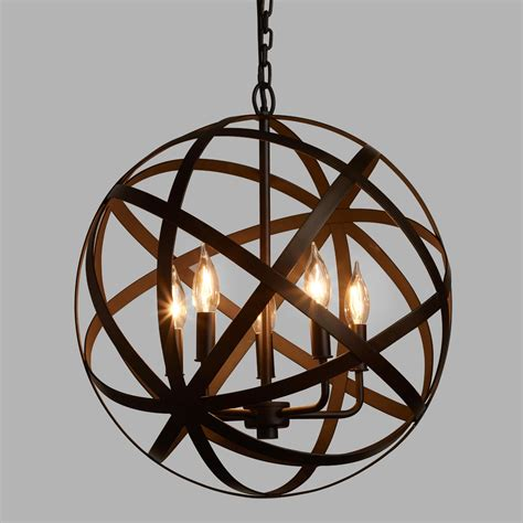 Metal Orb Chandelier World Market World Market Light Fixtures