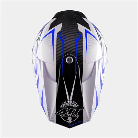 Cross Helm by Mt Crosshelm Road Motorradhelm Steel Schwarz Blau 114