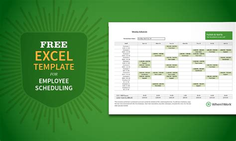 Free Excel Employee Schedule Template by Free Excel Template For Employee Scheduling When I Work