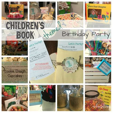 book themed party children s book themed birthday party refresh living