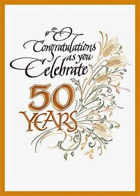 Free Printable 50th Anniversary Cards