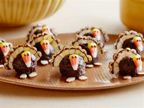 7 easy thanksgiving desserts sure truffle turkeys recipe food network kitchen food network
