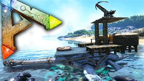 ark motorboat base ark survival evolved ep20 battle ship ballista plesi