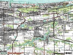 Topographic Map Chicago by New Chicago Indiana In 46342 Profile Population Maps