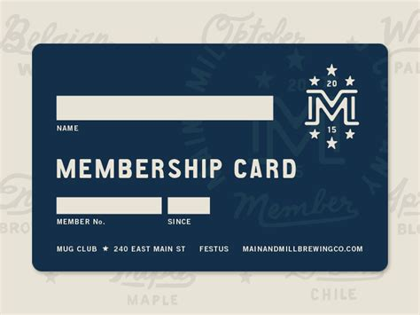 Maryland Pta Membership Card Template by Mmbc Membership Card Best Vip Card Business Cards