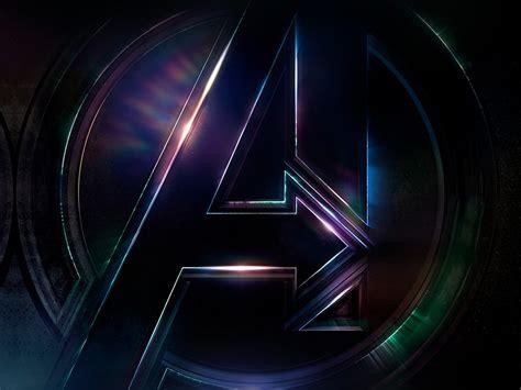 avengers logo dark film art illustration marvel wallpaper