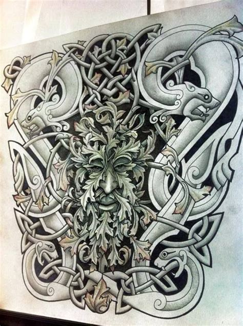 green man tattoo 66 best designs images on cool tattoos