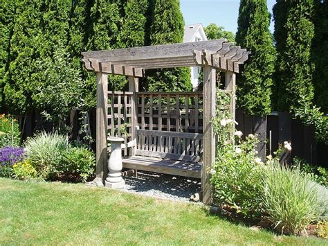 garden bench with arbor arbor bench garden pinterest