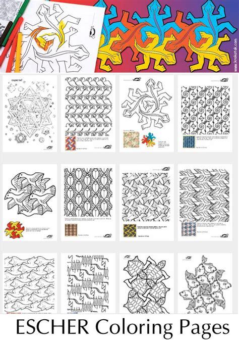 escher coloring pages education pinterest