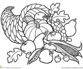 cornucopia basket coloring page printable fall coloring pages