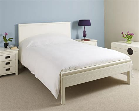 image of a bed furniture white lacquer bed