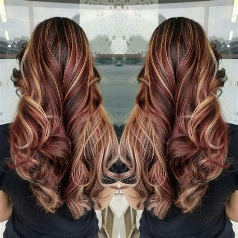 burgundy hair color with highlights hair brown hair highlights burgundy hair
