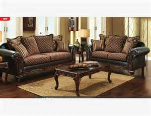 Gold Leather Sofa Traditional Gold Brown Fabric Leather Sofa Loveseat Pillow Living Room