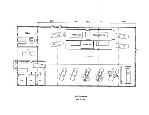 mechanic shop floor plans home deco plans