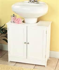 Details about bathroom storage cabinet pedestal sink organizer white