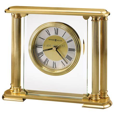 table top grandfather clock howard miller athens brass tabletop clock at 1 800 4clocks com