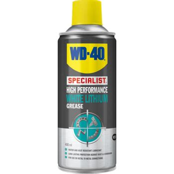 Promo Wd40 Specialist High Performance White Lithium Grease Jv 21l B wd 40 specialist high performance white lithium grease 400ml wd44390