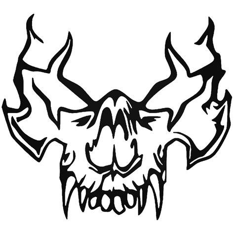 Tribal Sticker Skull by Tribal Vire Skull 5 Vinyl Decal Sticker
