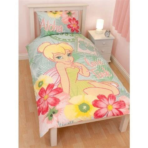 Girls Disney Fairies Tinkerbell Design Reversible Quilt Tinkerbell Bedding Set