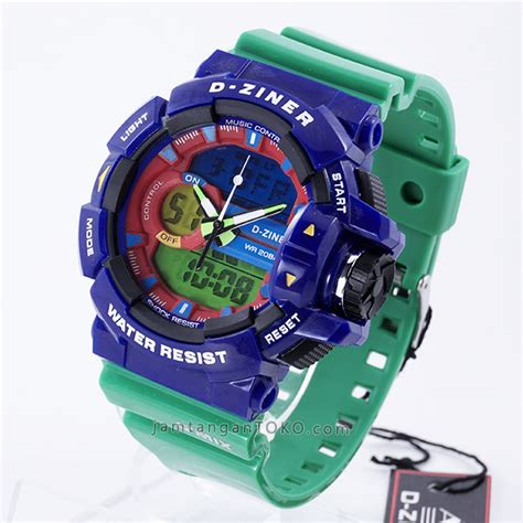 Best Sale Jam Tangan Pria D Ziner Original Limited Edt 1 gambar d ziner dz 8089 g mix blue green glossy