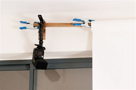 wall mount photography light stand low profile low cost backdrop wall mount diy photography