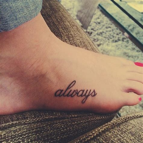 tattoo font always black ink lettering always tender tattoo on foot