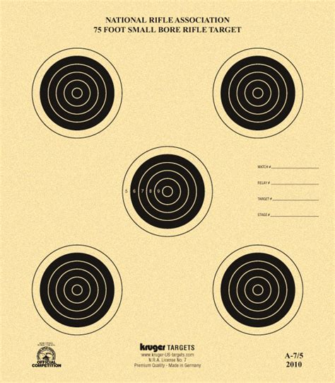 printable competition targets 75 foot smallbore rifle target nra a 7 5 kruger