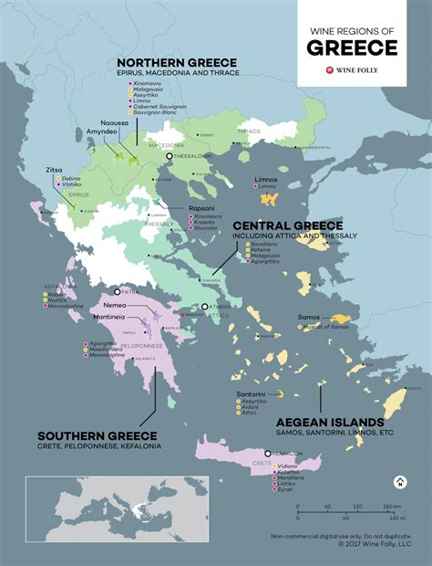 the wine regions of greece maps wine folly