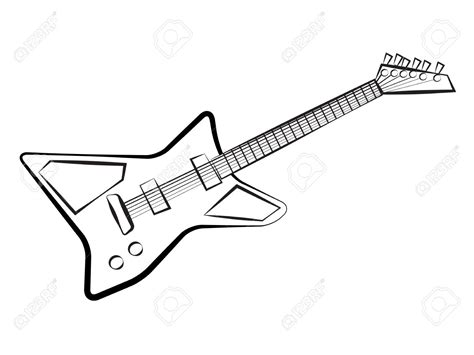 Guitar Clipart Outline by Guitar Outline Clipart 73