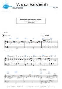partition piano vois sur ton chemin les choristes