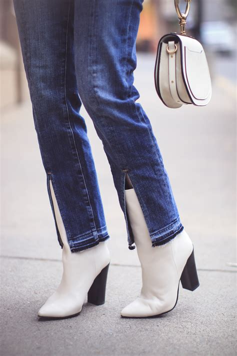 when to wear boots how to wear white boots fashion erin busbee