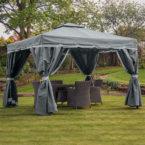gazebo firenze florence 3m x 3m gazebo graphite grey two tone my new gazebo