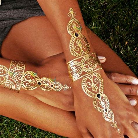 gold henna temporary tattoo trending mehndi designs 50 henna ideas for 2018