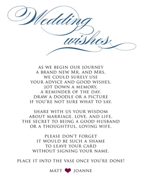 Wedding Wishes Poem by Looking For Way To Say Sign Our Guestbook Weddingbee