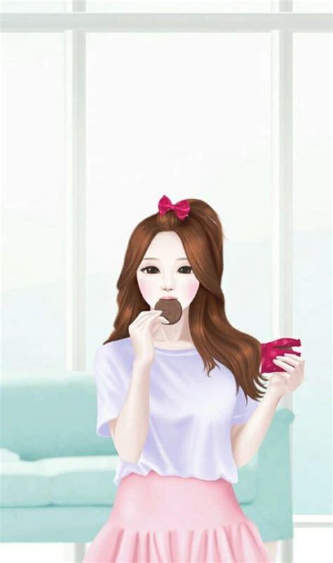 wallpaper cantik kartun korea 344 best coleksi kartun cantik lucu images on pinterest
