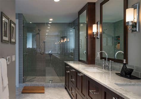 elegant teak shower mat  bathroom transitional  gray